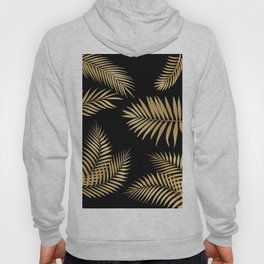 Golden and Black Palm Leaves Hoody