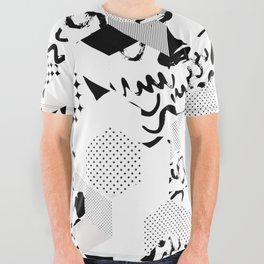 In between the lines and dots All Over Graphic Tee