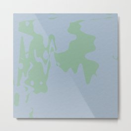 Green weird looking shapes on innocent background Metal Print