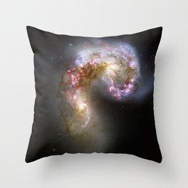 Antennae Galaxies Throw Pillow