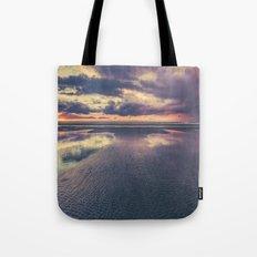 Ocean Sea Beach Water Clouds at Sunset - Pacific Coast Highway Long Beach, WA Tote Bag