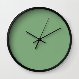 A simple palette of Green Wall Clock