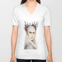thranduil V-neck T-shirts featuring Thranduil by Olivia Nicholls-Bates
