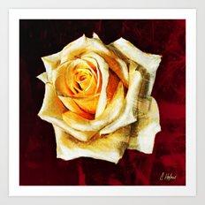 Gorilla Rose Art Print