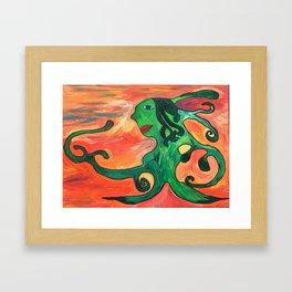 Moss Lady Framed Art Print
