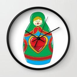 Matroska Wall Clock