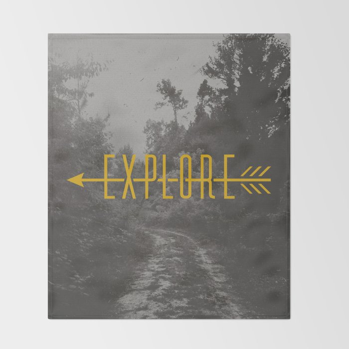 Explore (Arrow) Throw Blanket