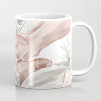 lebowski Mugs featuring Bunny Lebowski by Gregory Nordquist