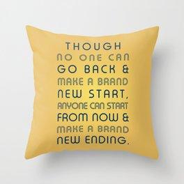 Brand New Ending Throw Pillow