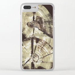 Concentric Log Abstract Clear iPhone Case