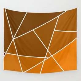 Brown Line Pattern Wall Tapestry