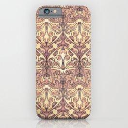 Christimas - Ocher, vintage, rose iPhone Case