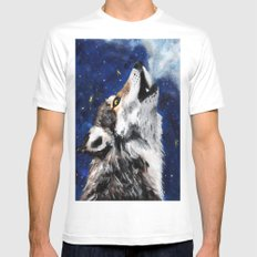 Wolf's breath MEDIUM White Mens Fitted Tee