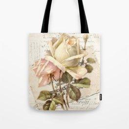 """Le Reve"" Decoupage Roses Tote Bag"