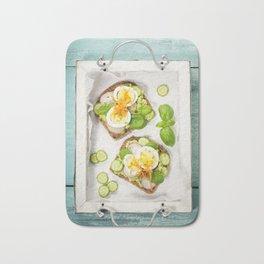 Healthy sandwiches Bath Mat
