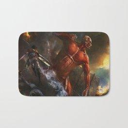 colossal titan appears Bath Mat