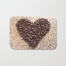 Coffee Heart Bath Mat