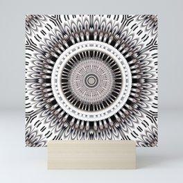 Hypnotic mandala flower Mini Art Print