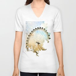Abstract London Eye Unisex V-Neck