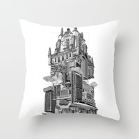 madrid Throw Pillows featuring MADRID 360º by DOURONE