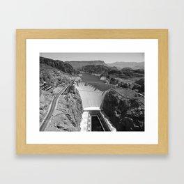 Black and White Hoover Dam - Nevada/Arizona Framed Art Print