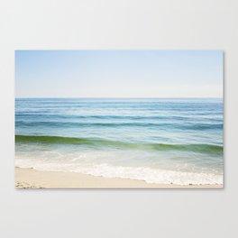 Ocean Seascape Photography, Blue Sea Landscape, Beach Waves Coastal, Seashore Horizon Canvas Print