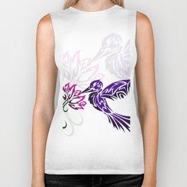 Hummingbird W/ Flower Biker Tank