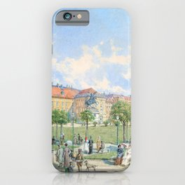 Franz Alt - The Heldenplatz in Vienna with a view of the Leopoldine wing of the Hofburg - Digital Remastered iPhone Case
