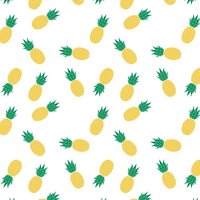 PINEAPPLE ANANAS FRUIT FOOD PATTERN Duvet Cover