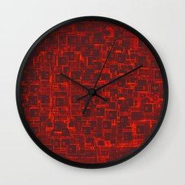 Adventure Black on Red Wall Clock