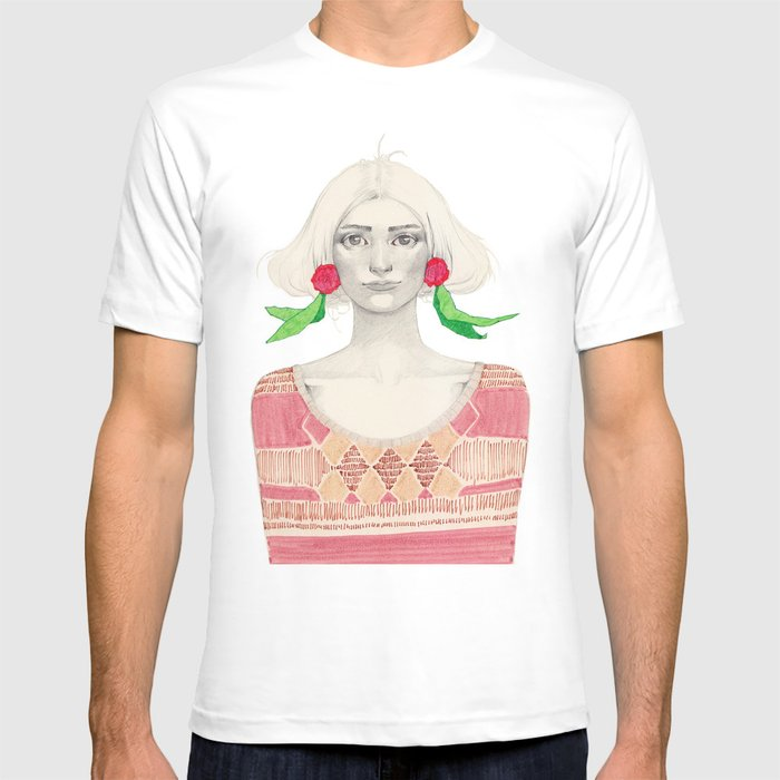 Two Red Flowers T-shirt