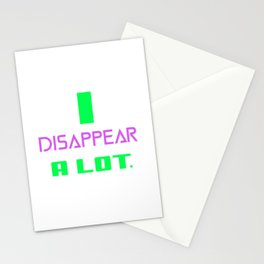 I Disappear A lot- magician pun Stationery Cards