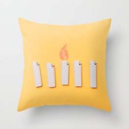 Lighters Throw Pillow
