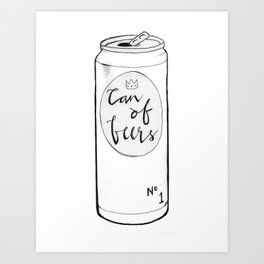 Can of Beers Art Print