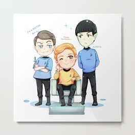 TOS Friendship Metal Print