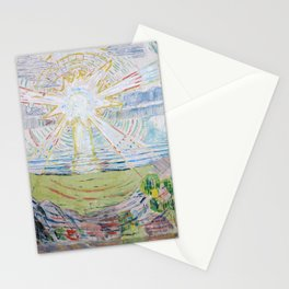 Edvard Munch - The Sun Stationery Cards