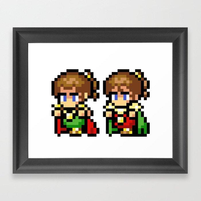 Final Fantasy II - Palom and Porom Framed Art Print