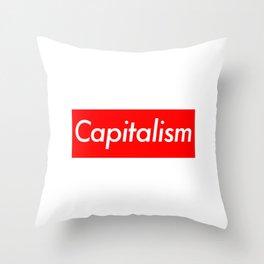 Capitalism (Supreme Parody) Throw Pillow