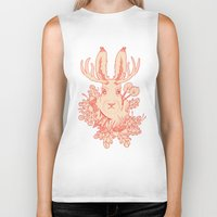 jackalope Biker Tanks featuring Jackalope Tattoo by jackalopebuddy