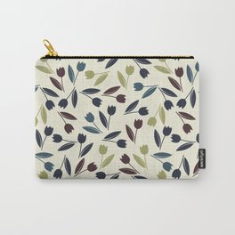 Decorative pattern with colorful spring tulips Carry-All Pouch