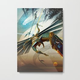 Battle of Horus and God the Father Metal Print