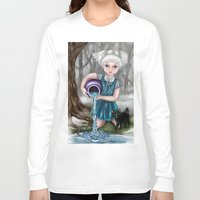 aquarius Long Sleeve T-shirts featuring Aquarius by Paula Ellenberger