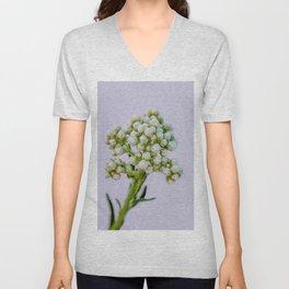 little white flowers Unisex V-Neck