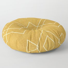 Nudo in Gold Floor Pillow