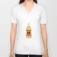 oz V-neck T-shirts featuring 40 oz by Skyler Kitts