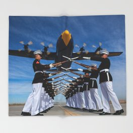 United States Marine Corps Throw Blanket