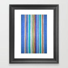 AZTEC BLANKET - BLUE Framed Art Print