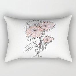 flower illustration Rectangular Pillow