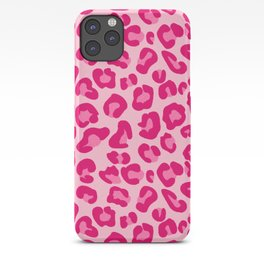Leopard Print in Pastel Pink, Hot Pink and Fuchsia iPhone Case