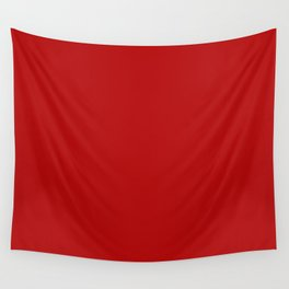 Crimson Red - Solid Color Collection Wall Tapestry